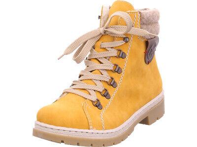 Rieker Damen Y943068 Y94 Winter Stiefel Boots Stiefelette warm Schnürer gelb   eBay