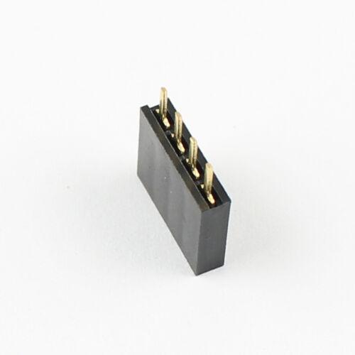 8.5 mm 100Pcs 2.54 mm pitch 4 Pin Female Single Row Straight Header Strip PH