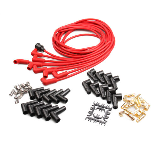 8 mm Ignition Carble Spark Plug Wire Set For Chevrole Pontiac Buick Dodge V8 Red