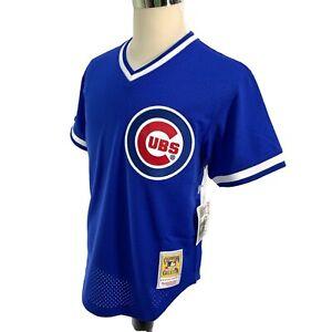 6673da98e Mitchell & Ness Mens Sz M/2XL Blue Ryne Sandberg Chicago Cubs ...