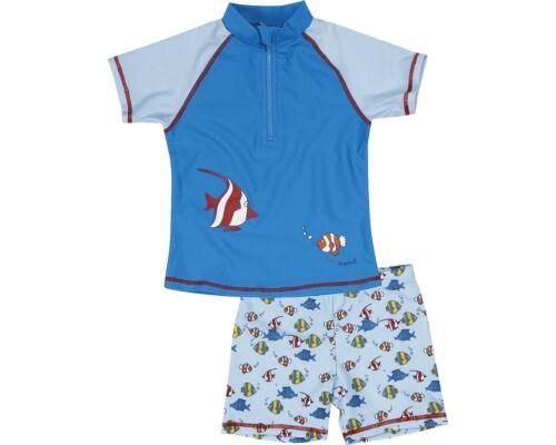 Playshoes UV-Protection Set shirt et maillot bain secondé poissons 122//128