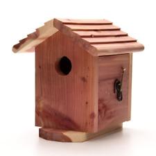 Fabulous Red Cedar Wood Bird House Nesting Box Birdhouse Wooden Yard Download Free Architecture Designs Scobabritishbridgeorg