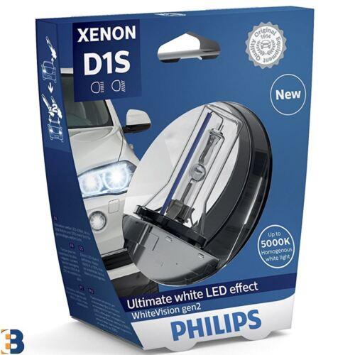 1x Philips D1S Xenon WhiteVision car headlight bulb PK32d-2 85415WHV2S1 gen2