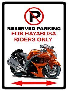 Image Is Loading Suzuki Hayabusa Motorcycle Bike No Parking Sign NEW