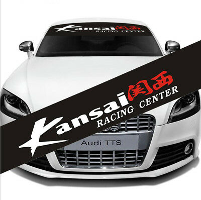 Auto Car Front Window Windshield Exterior Decal Sticker For Kansai Racing Center