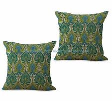 US SELLER- set of 2 car seat cushion covers retro bohemian paisley cushion cover