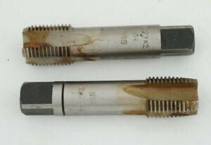Handgewindebohrer HSS M 12 Steigung 1,5 mm 2-teilig Feingewinde Gewindebohrer