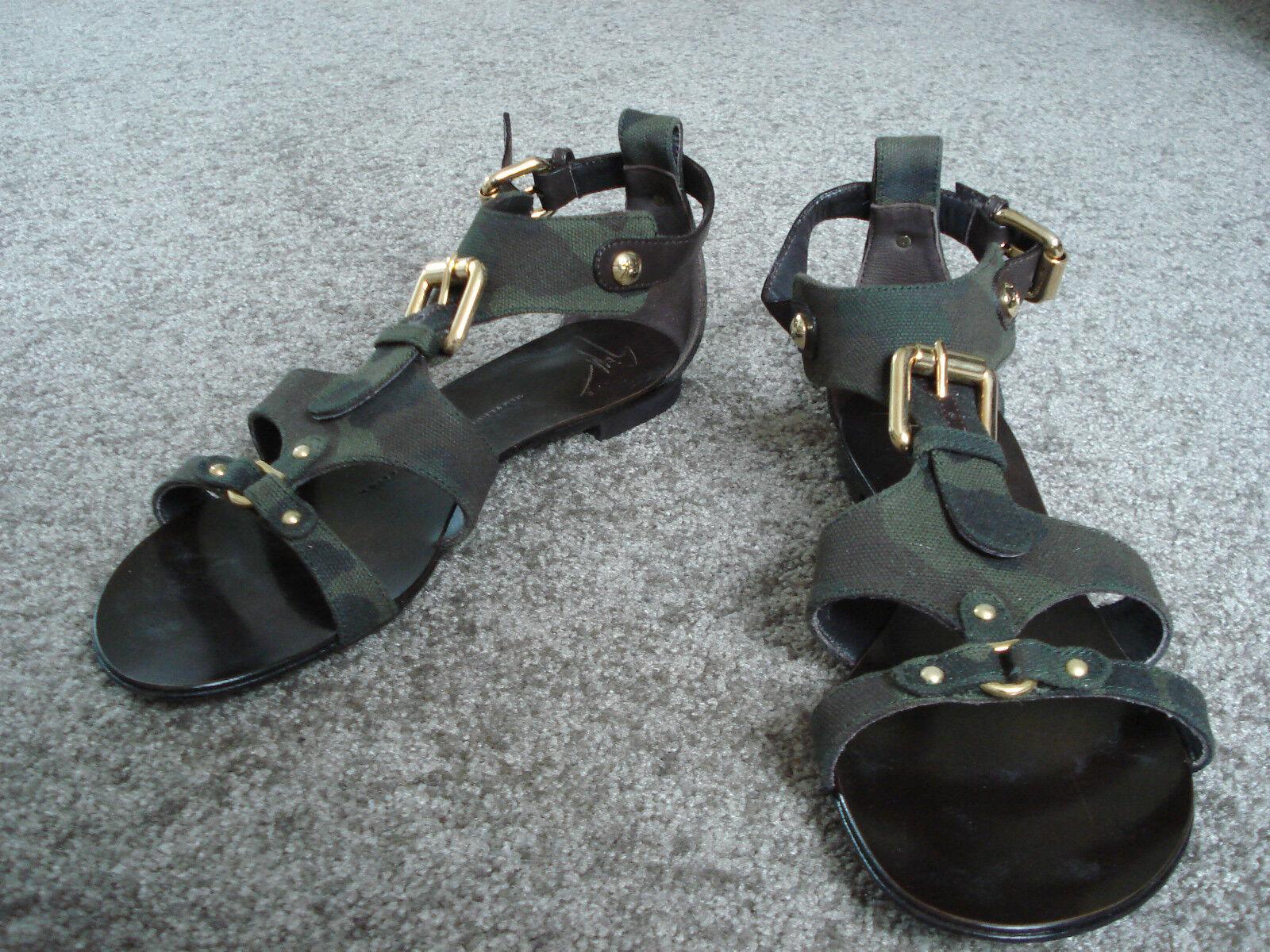 Sandaletten 37,5, von Giuseppe Zanotti Design, 37,5, Sandaletten Camouflage, wie NEU 70c691