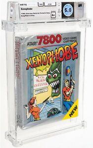 1989 Xenophobe Atari 7800 Video Game Silver Box WATA 5.0 A+ Sealed