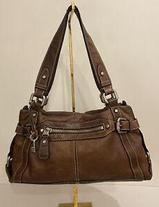 Gorgeous Fossil Brown / tan Leather Shoulder Bag Keypers Bag