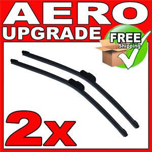 "Windscreen Retro Hook 2 X Wiper Blades With Integrated Spoiler 24/"" 16/"""