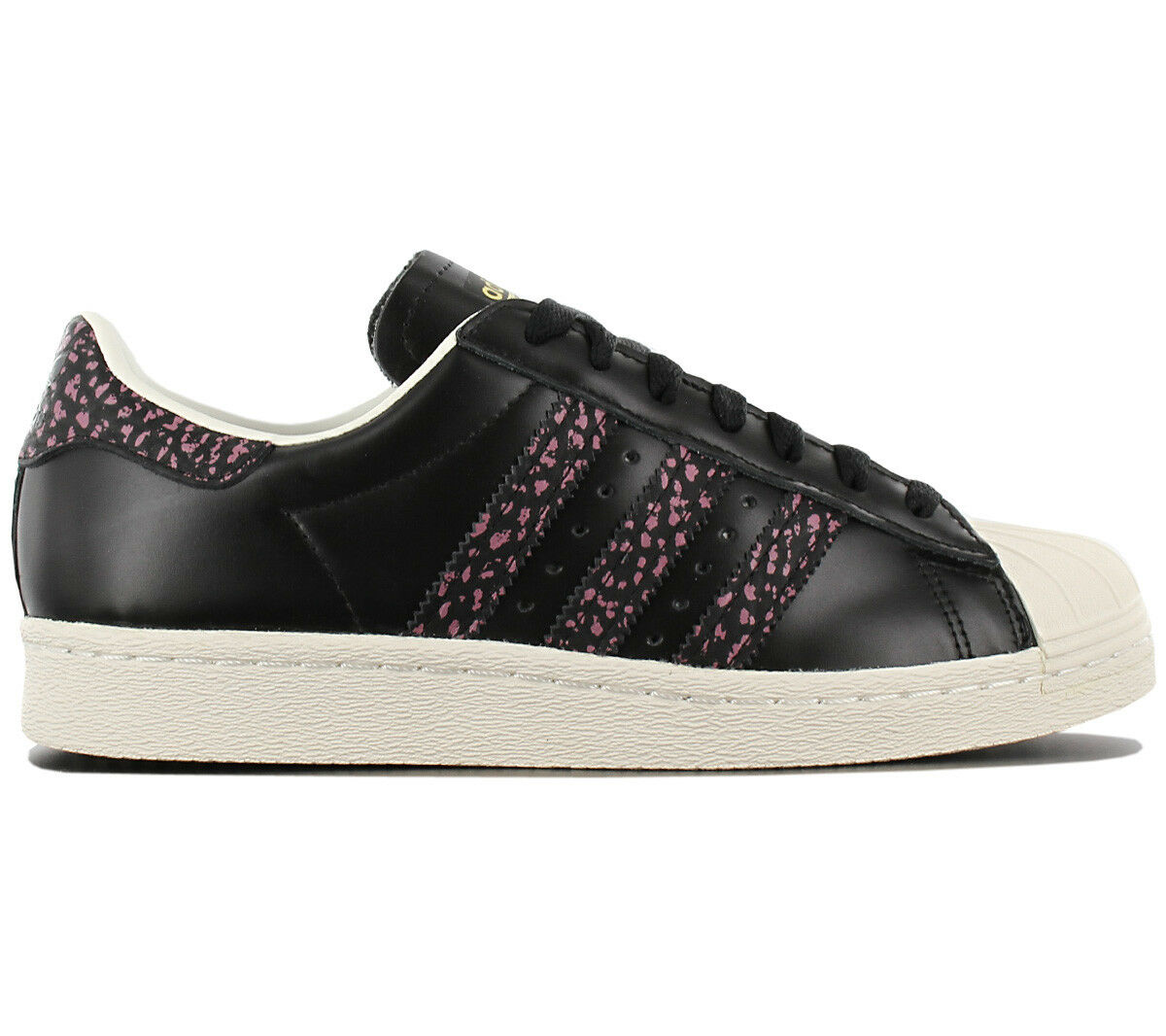 Adidas Originals Superstar 80s Baskets Femme Fashion Chaussures Noir Cuir S75846