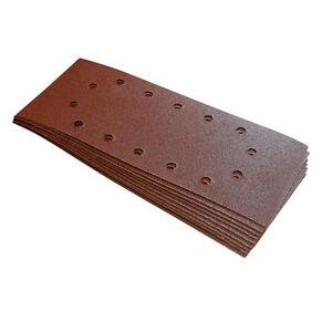 quantita-10-115x280-mm-Grana-80-Levigatura-1-2-Fogli-A-buchi-Per-Levigatrice