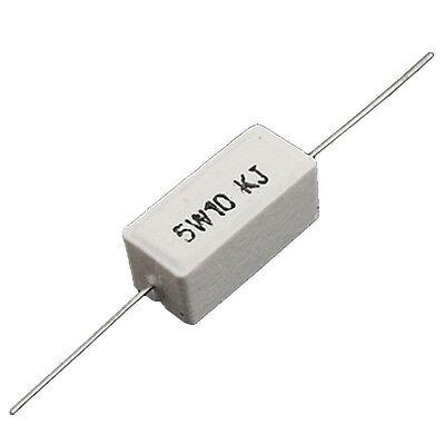 5Pcs 10K Ohm 5W Heat Resistant Cement Power Resistors