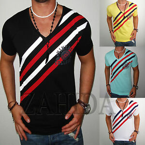 ZAHIDA-Herren-T-Shirts-Shirt-Clubwear-Designer-Polo-T-Shirt-ELASTAN-S-M-L-XL-NEU