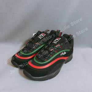 Details about New FILA Ray Shoes Disruptor Athletic Running Men Black Green  Red FS1SIA3110X