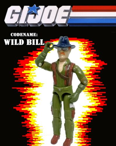 GI JOE Wild Bill v1 1983 A Real American Hero Figure Dragonfly Helicopter Pilot
