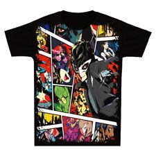 Anime Persona 5 P5 Joker T-shirt Unisex Short Sleeve Tops Casual Full Color #J76