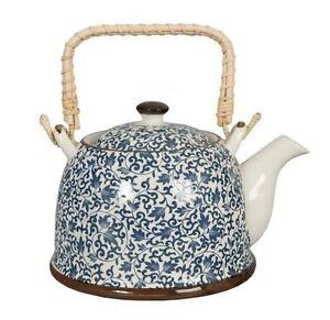 claye eef teekanne mit sieb einsatz teepott kanne blumen blau teegeschirr 51380 ebay. Black Bedroom Furniture Sets. Home Design Ideas