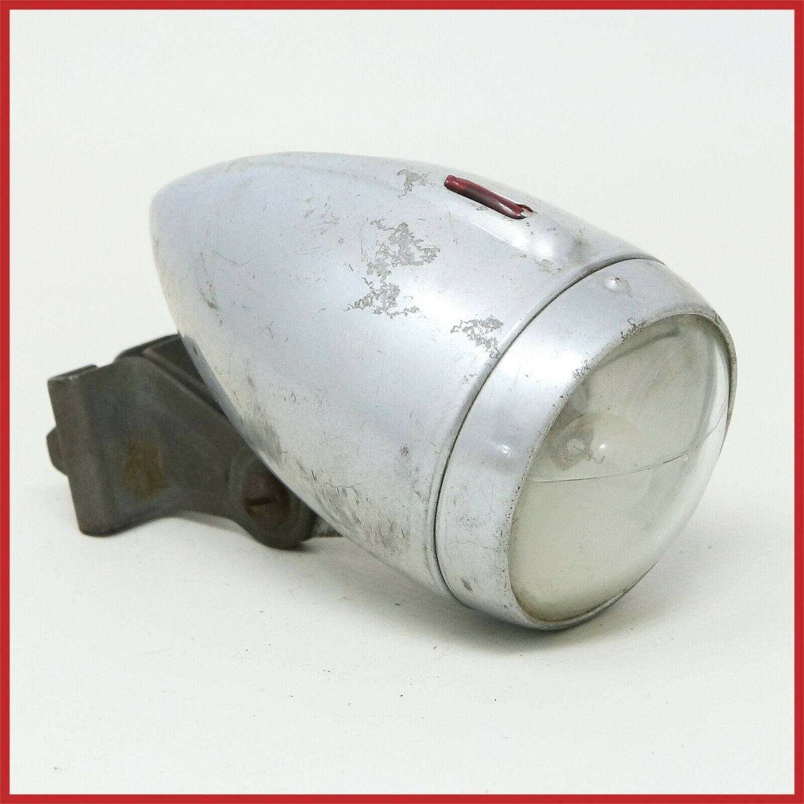 ALLOY HEADLAMP 30s 40s ROAD TOURING BIKE ANTIQUE VINTAGE LAMP LIGHT ALUMINIUM 50