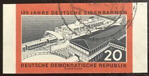 DDR #Mi805B CTO Imperf CV€3.50 1960 Ferry Sassnitz Railways [530]