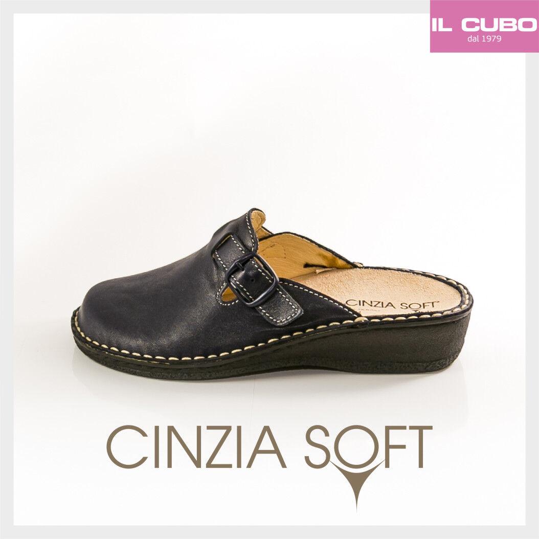 CINZIA SOFT PANTOFOLA femmes P.ESTRAIBILE CouleurE bleu ZEPPA H 3 CM MADE IN ITALY