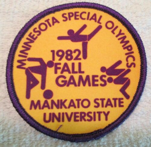 Vintage Special Olympics Patch 1982 Mankato State University Minnesota Fall Game