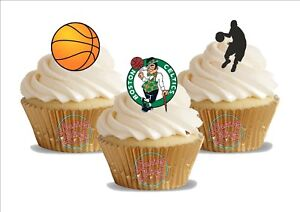 Image Is Loading 12 X Basketball Boston Celtics Trio Mix Birthday