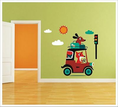 Kids Removable Vinyl Wall Stickers - Happy Travel SA-12-060