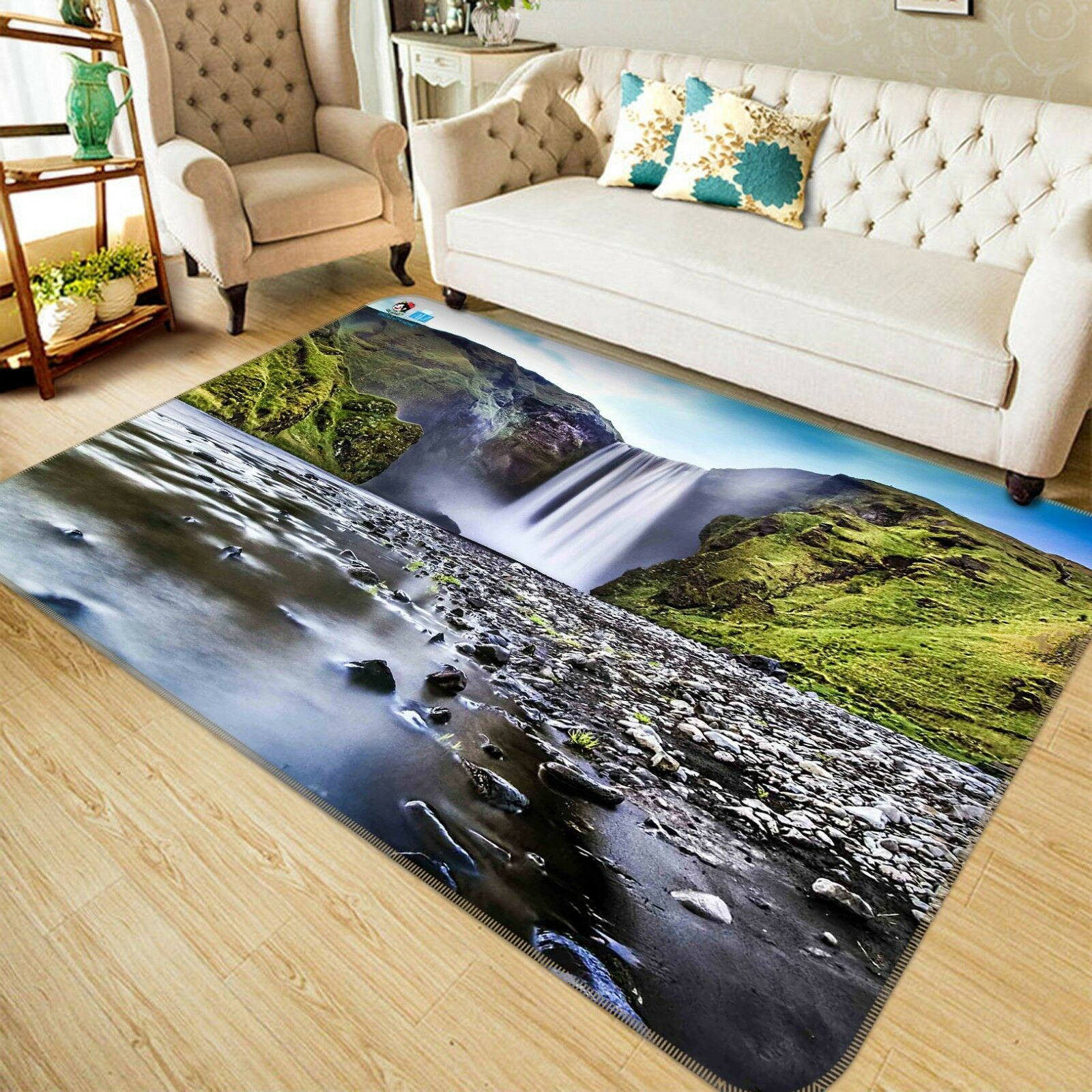 3D Waterfall Hills 44 44 44 Non Slip Rug Mat Room Mat Quality Elegant Photo Carpet UK 7c9047