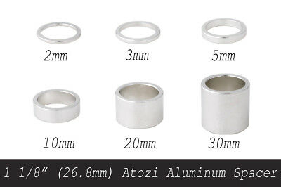 "28.6mm Atozi Aluminum Bike Headset Stem Spacer 60mm New 1 1//8/"" Silver"