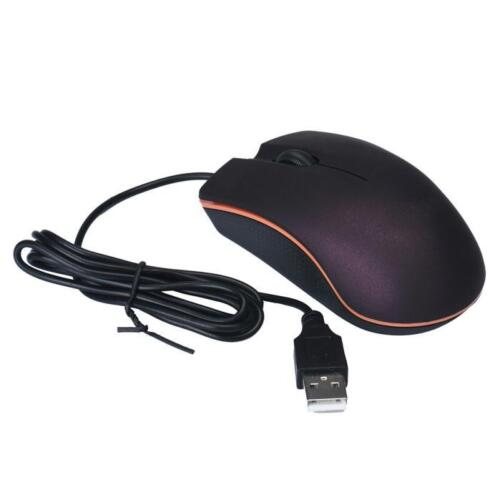 3 Buttons 1200DPI Optical USB LED Wired Game Mouse Mice For PC Laptop Computer