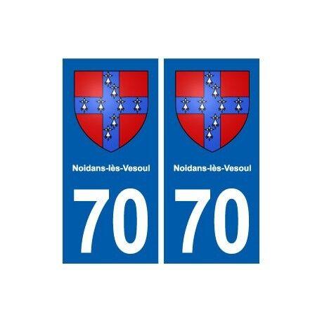 70 Noidans-lès-Vesoul blason autocollant plaque stickers ville droits