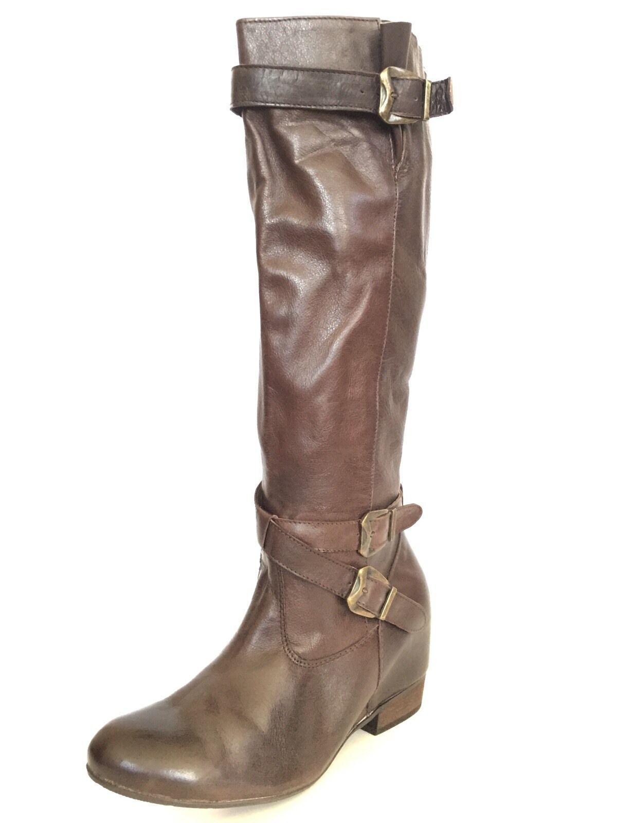 200 NEU MIZ MOOZ 'West' Damenschuhe Braun Leder Riding Stiefel Schuhes Größe 11 M