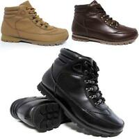 Mens Ankle Boots Fashion Hiking Walking Desert Biker Riding Trainers Shoes Size