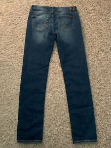 EUC 7 for All Mankind Jeans Slimmy GIRL'S size tag=16 (MEASURED 30x30) (7039)