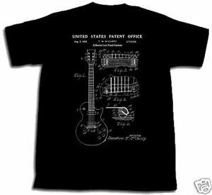 Gibson-Les-Paul-Gitarre-Lack-Shirt-Tshirt-S-M-L-XL-2XL-Mccarty-Polsfuss-Neu