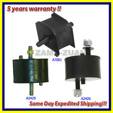 90-93 Volvo 240 2.3L Motor & Trans Mount Set 3PCS for Auto w/ Air Conditioning