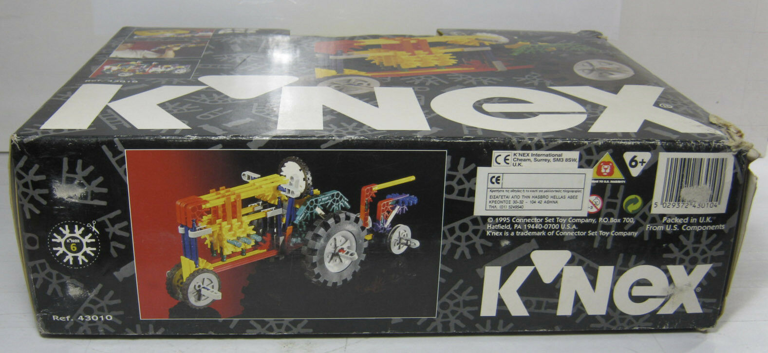 1995 K'NEX K'NEX K'NEX KNEX POWER 3 MODELS 325 PIECES PCS SUITCASE BIG SET MISB NEW 5d72ef