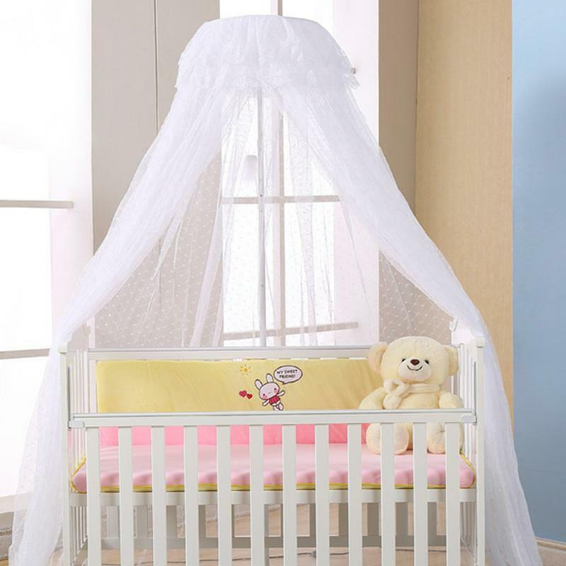 Baby Crib Canopy Bed Mosquito Net Netting Dome Toddler Infant Breathable Nursery