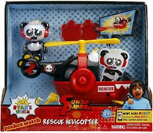 Jada-Toys-Ryan-039-s-World-Helicopter-with-Combo-Panda-Figure-6-034-Feature-Vehicle-Red