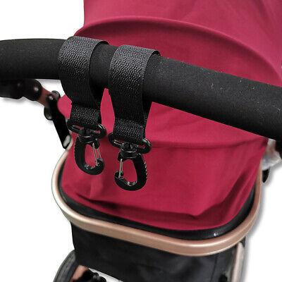 2pcs//set Baby Pushchair Stroller Clip Hook Buggy Pram Diaper Bag Holder Hanger