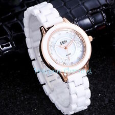 Snowflake Womens watch RSGLD Trim Winter White Stainless Quartz water resistant