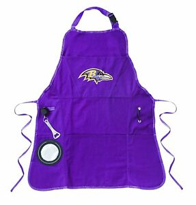 Image is loading NFL -Baltimore-Ravens-Apron-Retractable-Bottle-Opener-Insulated- 5b1d33003