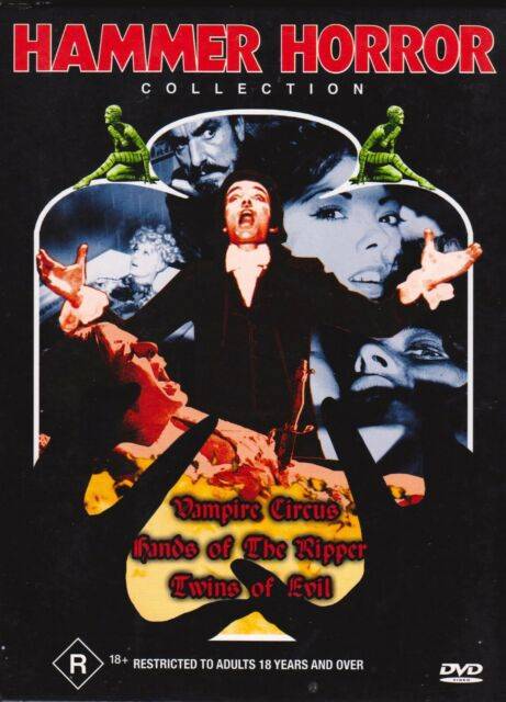 Hammer Horror DVD (3 Disc Set) Vampire Circus-Hands of the Ripper-Twins of Evil