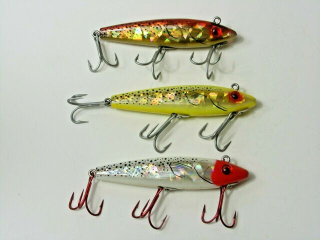 Lot of 3 L & S Mirro Lures Lip Less Minnow Baits 3 Colors