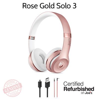 Beats By Dr Dre Solo3 Wireless On Ear Headphones Rose Gold Bluetooth 190198105455 Ebay