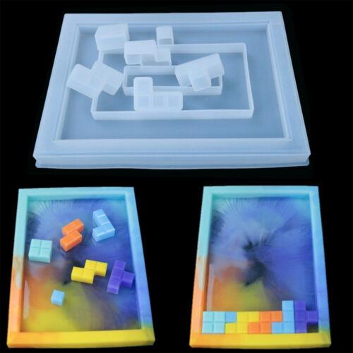 Handmade Silicone DIY Craft Crystal Epoxy Mold Tetris Resin Molds Puzzle Making