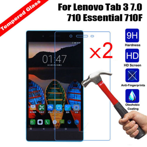 2Pcs Premium 9H Tempered Glass Screen Protector For Lenovo Tab 3 7.0// Phab2 Plus