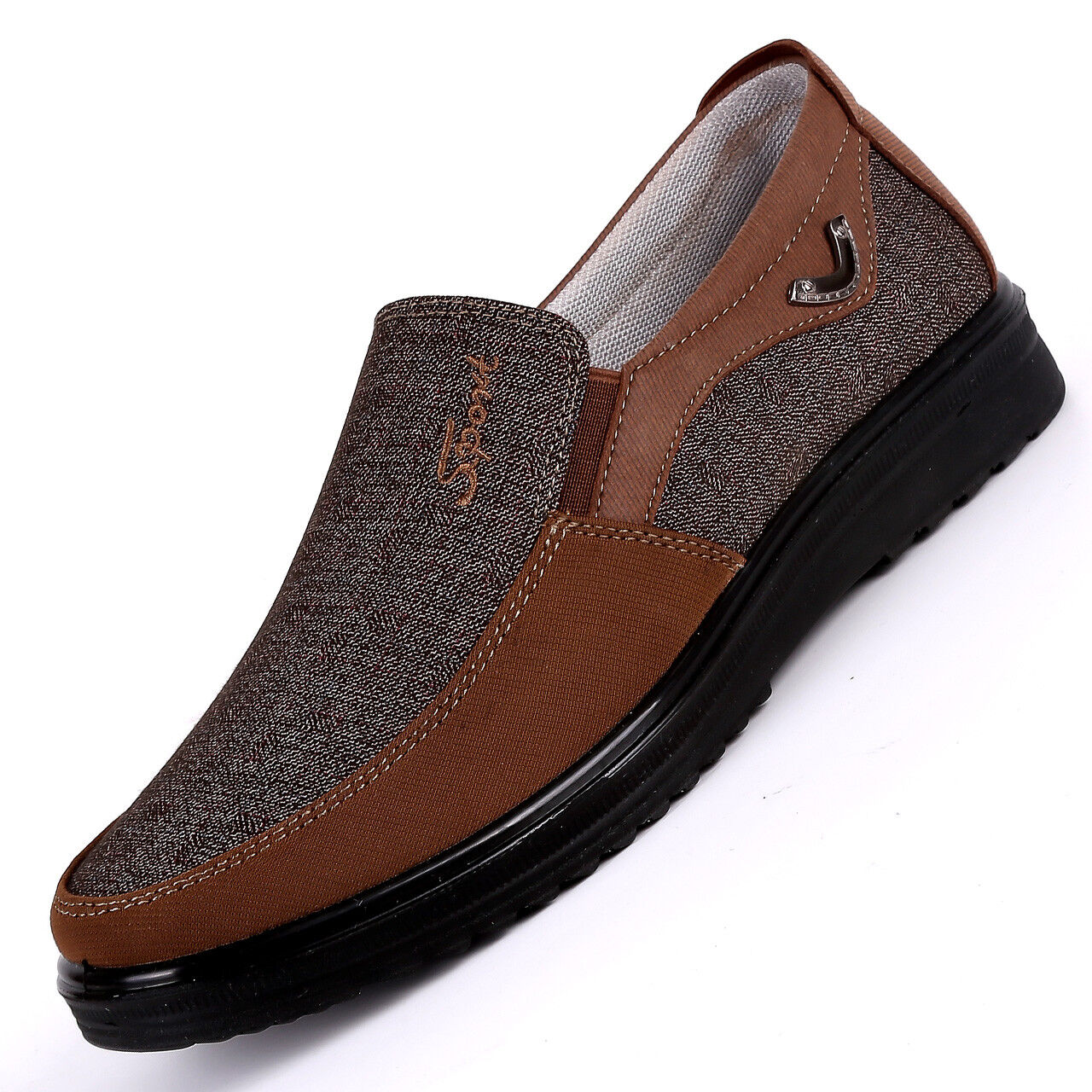 Mens Old Beijing Casual Canvas shoes Slip On Loafers Comfortable Flat Plus size